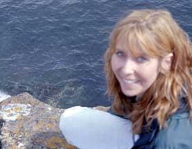 Tossing a musical message in a bottle into the chilly north Atlantic off the coast of Orkney, Scotland!